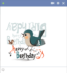 Happy Birthday Image of a Bird and Music Notes
