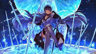 Tapeta Full HD z Akame Ga Kill z Esdeath na lodowym tronie