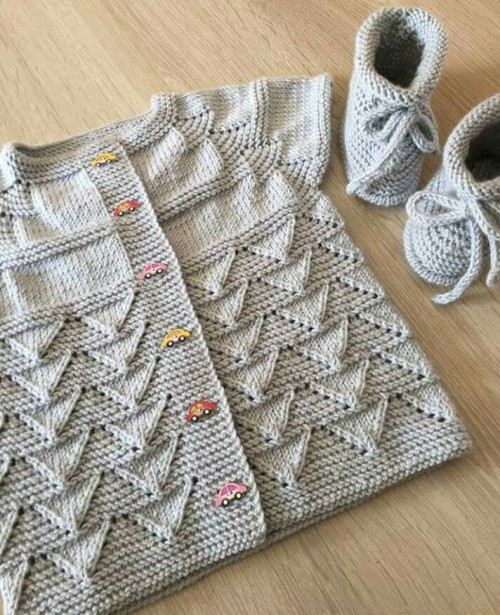 Knit Kid Cardigan - Free Pattern