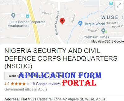 Nigeria Civil Defense Corps (NSCDC) Recruitment 2018/2019 | Registration And Application Form