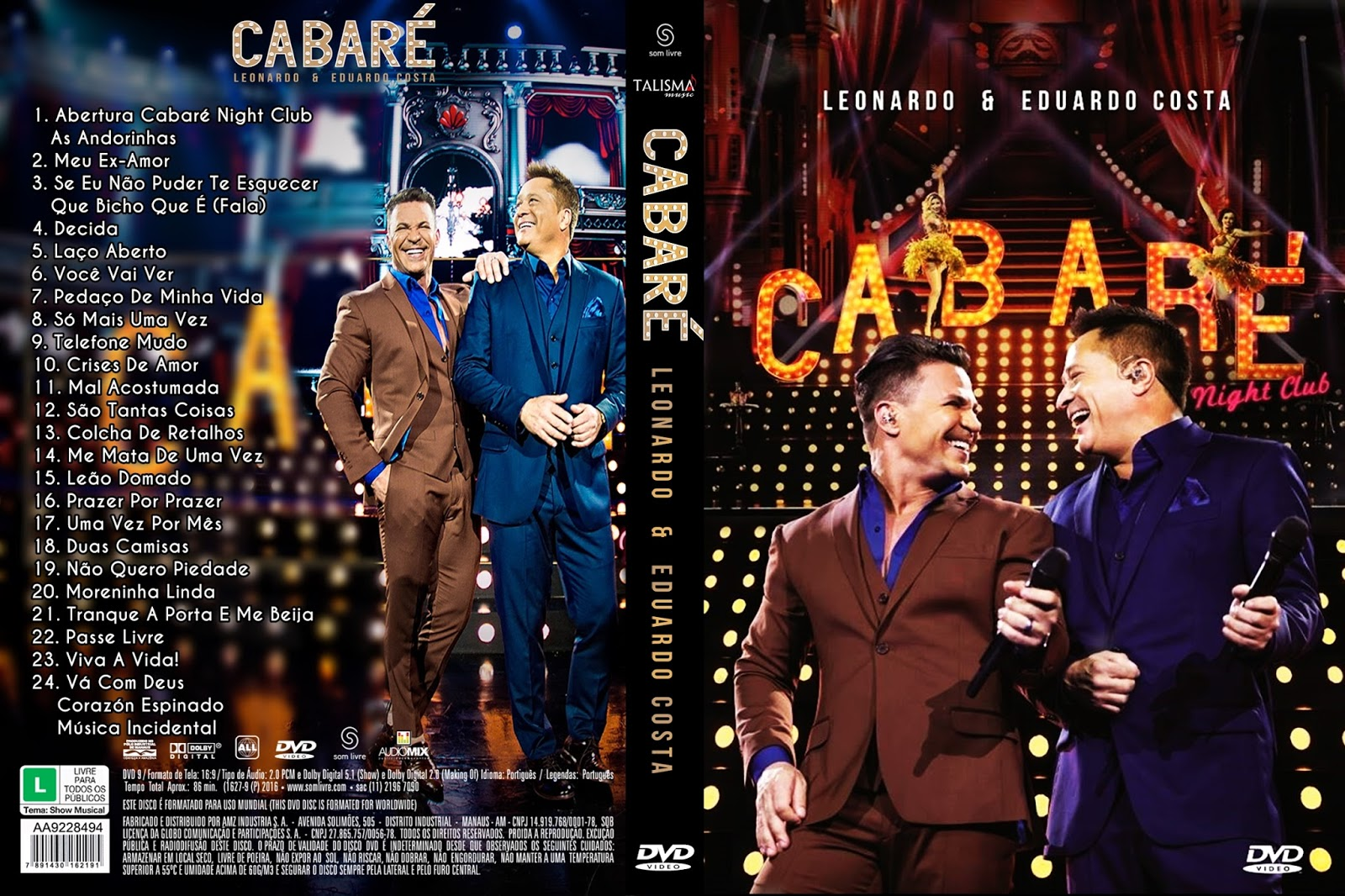 Download Leonardo & Eduardo Costa Cabaré 2 Night Club DVD-R