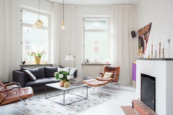 cortinas y estores en el estilo n rdico la garbatella blog de decoraci n estilo n rdico. Black Bedroom Furniture Sets. Home Design Ideas