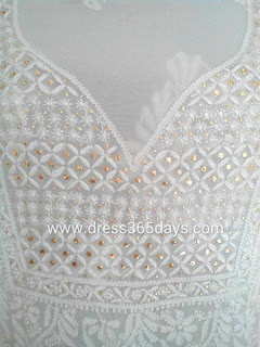 Chikankari Dress Material with Mukesh work