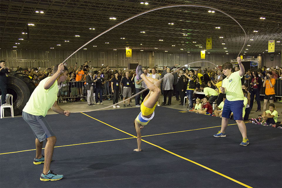 Jump Rope (pula corda) é uma das modalidades do Arnold Classic Brasil. Foto: Divulgação