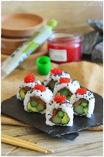 variedades de sushi- trucos para hacer sushi- urumaki sushi o california roll- sushi uramaki- receta de sushi uramaki- uramaki sushi envuelto en salmón- futomaki Hosomaki- hossomaki- vegan california rolls-