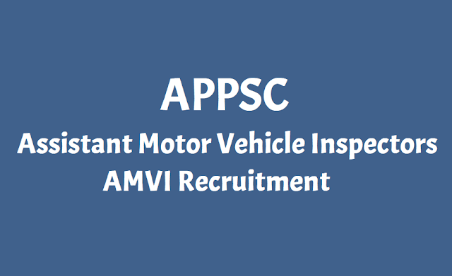 APPSC Assistant Motor Vehicle Inspectors
