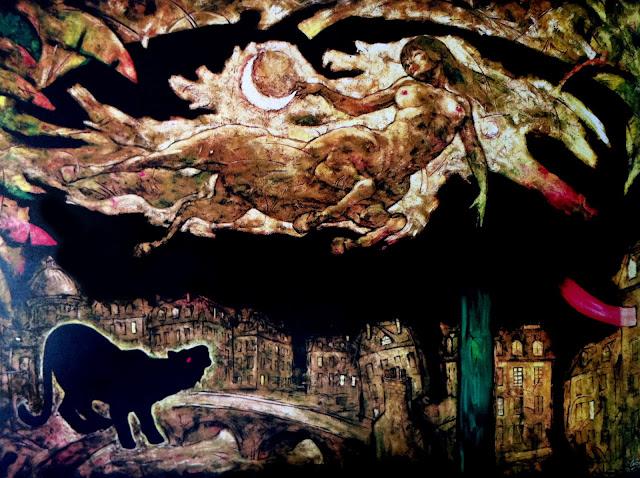 La Runa Mula (Mito amazónico del Perú). Pintura de Gino Ceccarelli