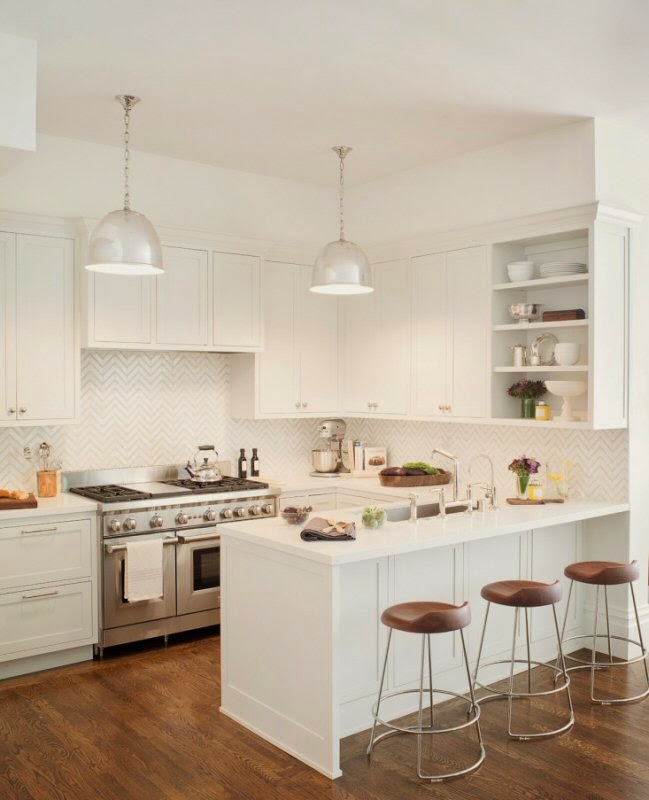 small bright white kitchen