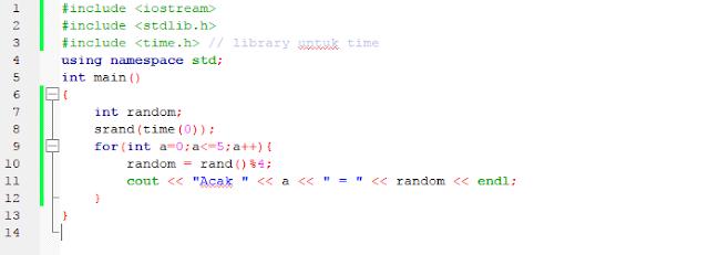 Membuat angka random c++
