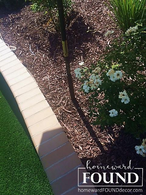backyard, outdoors, landscaping, umbrella holders, patio umbrellas, outdoor decor, home decor, diy, diy decor, pvc pipe, homewardfound decor