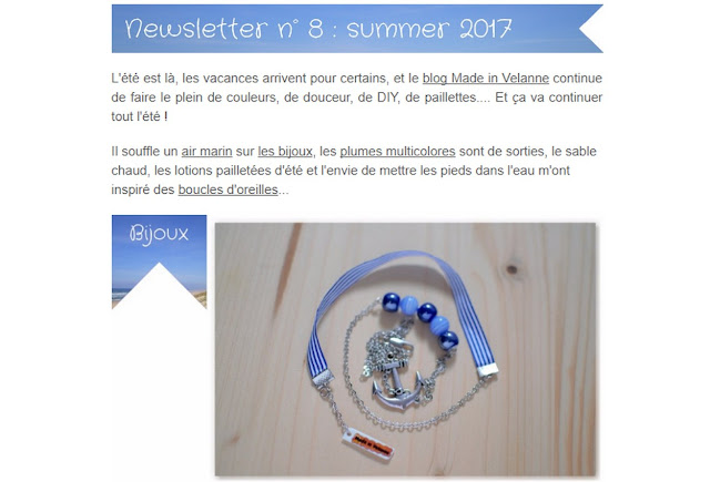 exemplaire newsletter made in velanne sur mail chimp