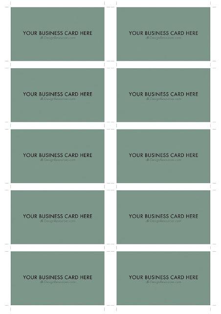 A4 Business Card Template PSD (10 Per Sheet)