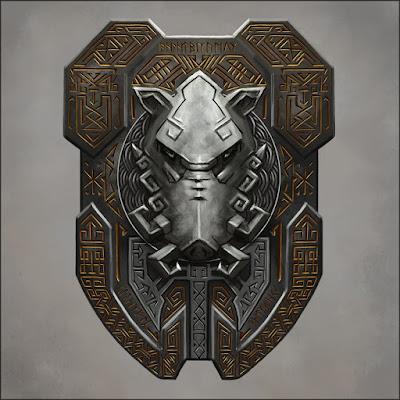 Poderia ser um escudo de um personagem épico.