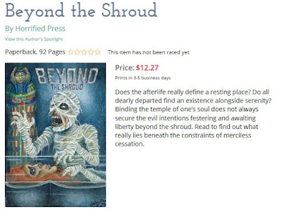 Screen-shot of Beyond the Shroud on Lulu.com