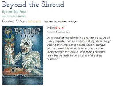 Screen-shot of Beyond the Shroud on Lulu.com