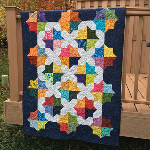 Speedwell Quilt made by Nettie's Quilts, The Tutorial designed by Nicola Dodd from CakeStand Quilts for Moda Bake Shop