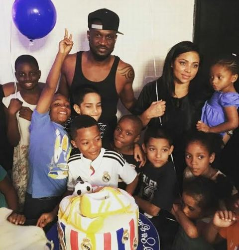 Photos from Peter Okoye's son Cameron's 8th birthday party