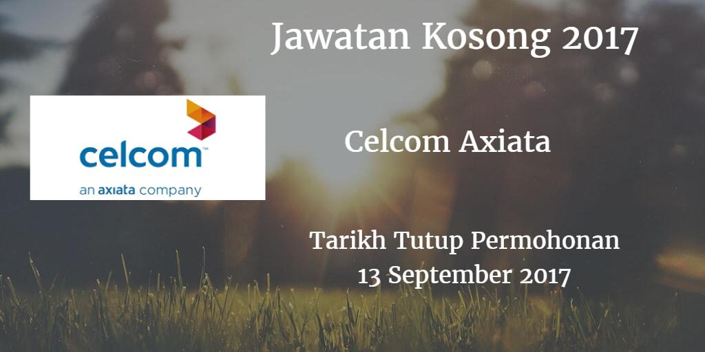 Jawatan Kosong Celcom Axiata 13 September 2017
