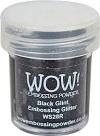 WOW Embossing Glitter BLACK GLINT