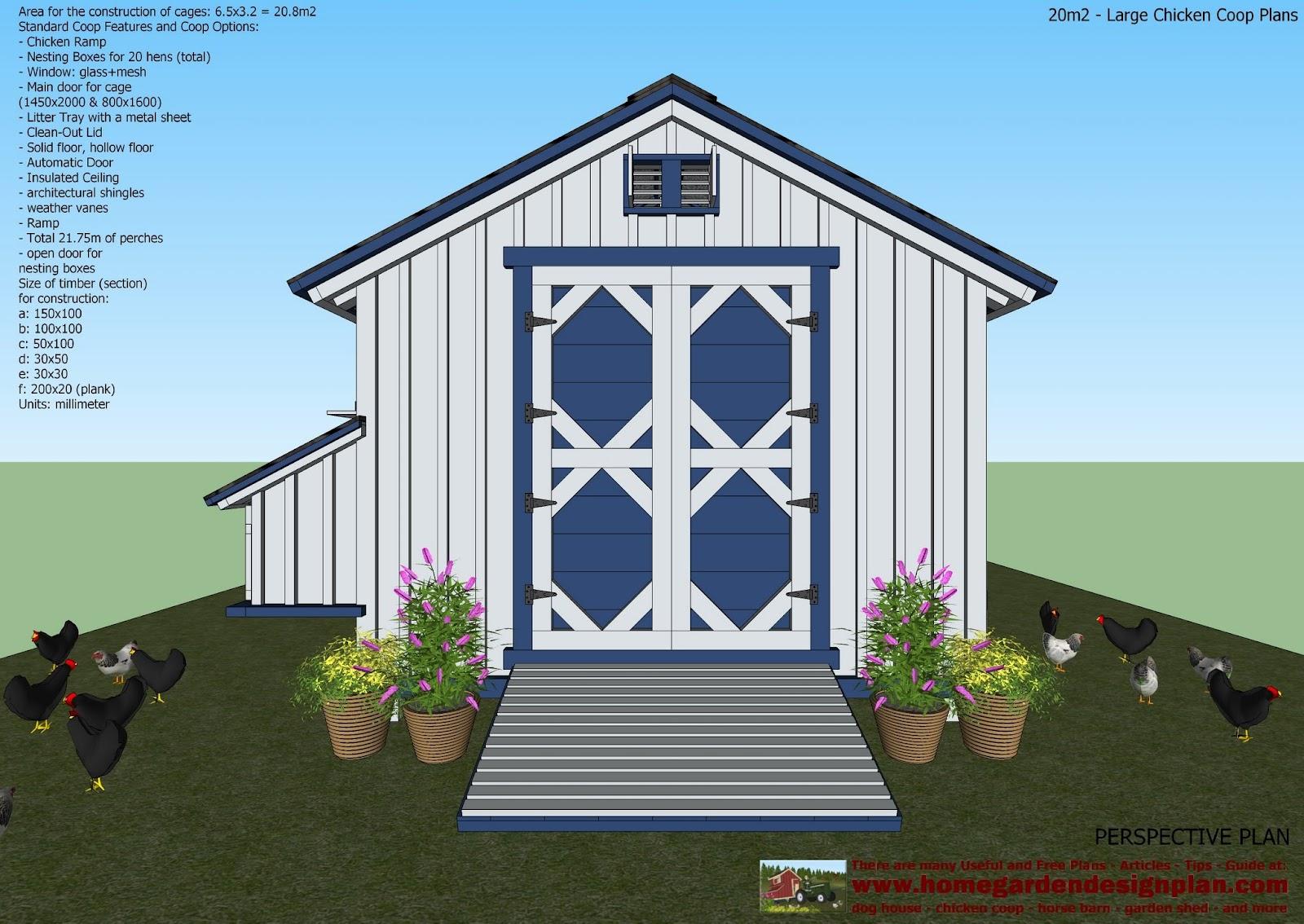 Home Garden Plans L310 Large Chicken Coop Plans