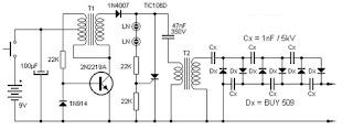 Высоковольтный инвертер с 9 вольт до 13 кВ