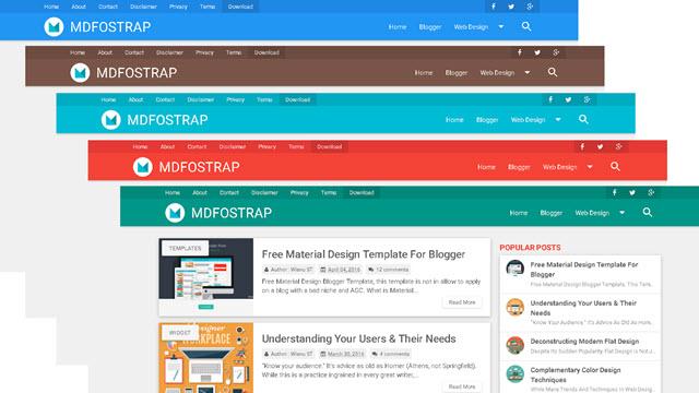 MDFostrap - Material Design Blogger Templates