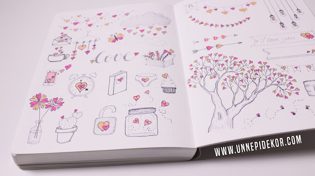 Bullet journal doodle printables download template