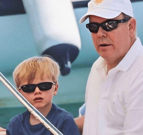 Prince Albert, Princess Charlene, Crown Prince Jacques and Princess Gabriella of Monaco started the summer holiday