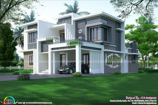 3017 Square Feet Contemporary Home - Kerala Design