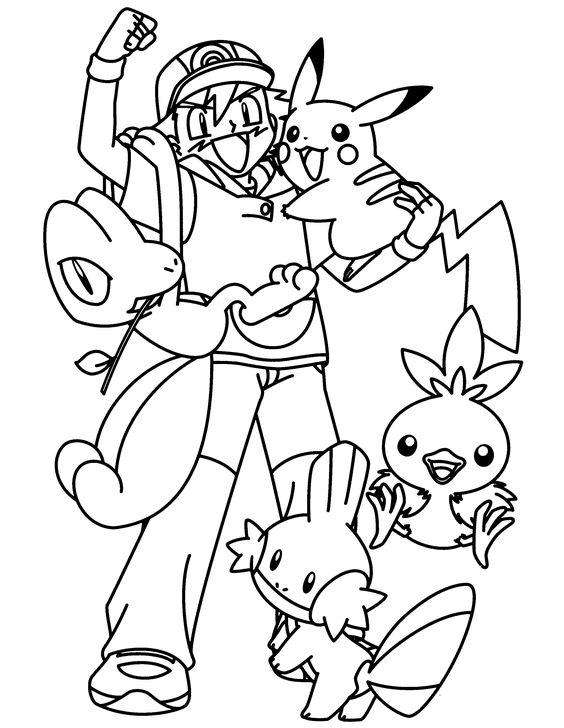 Tranh tô màu Pokemon 04