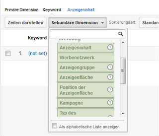 Google Analytics - Sekundäre Dimension