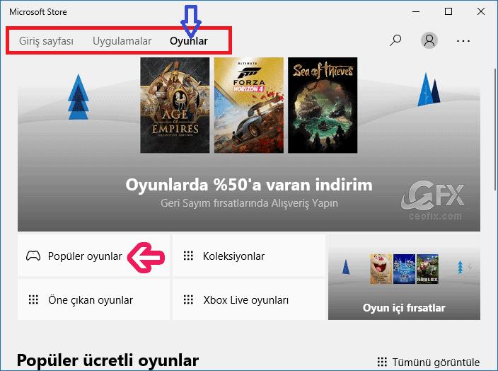 Microsoft Mağazası uygulaması - www.ceofix.com