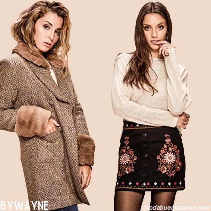 Tapados invierno 2019. Ropa de moda mujer invierno 2019.