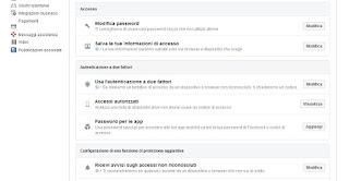Accesso Facebook
