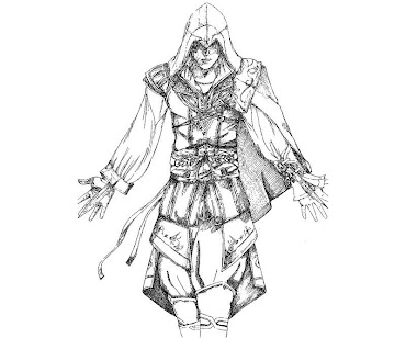 #3 Assassin's Creed Coloring Page