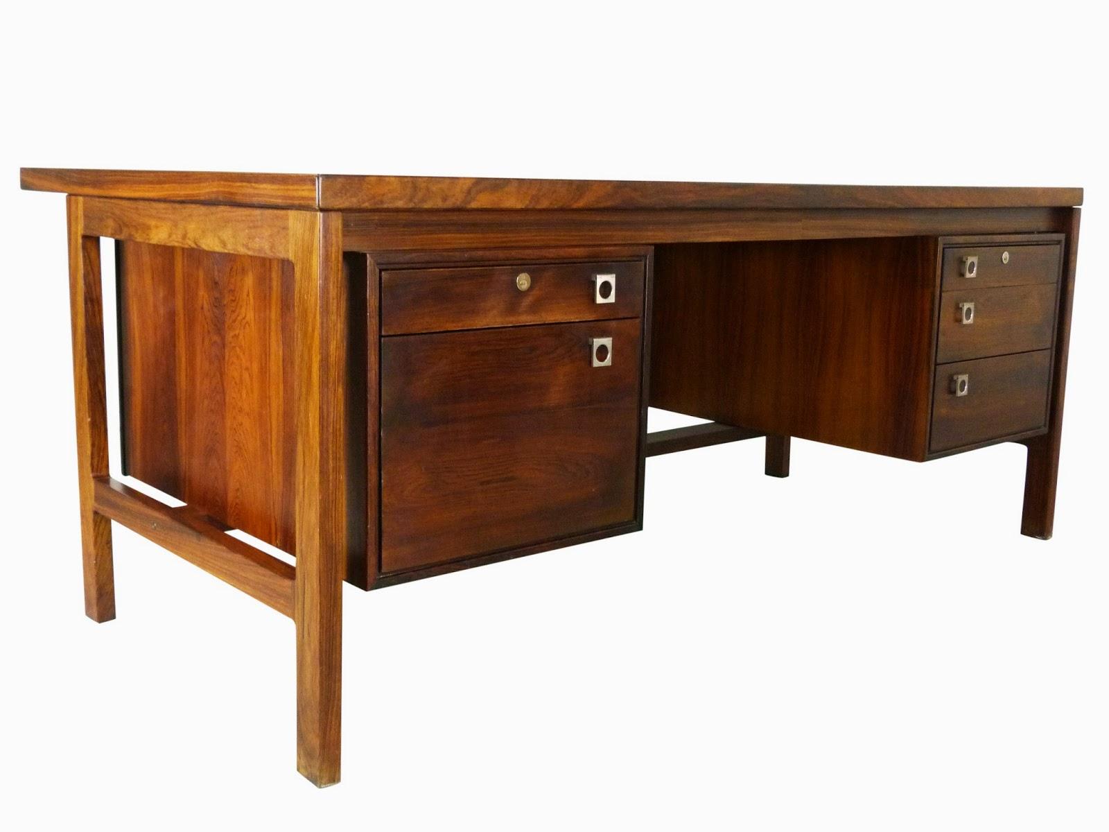 Arne Vodder Danish Modern Mid-Century Rosewood Executive Desk Sibast Img 1
