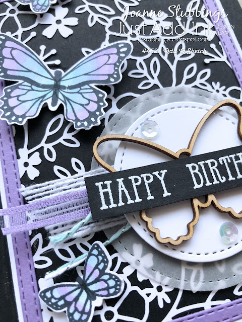 Jo's Stamping Spot - Just Add Ink Challenge #452 using Butterfly Gala by Stampin' Up!