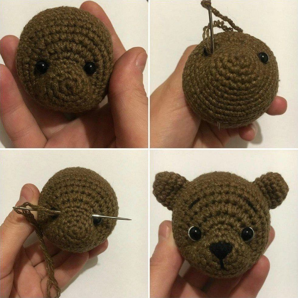 Amigurumi tutorial crochet bear