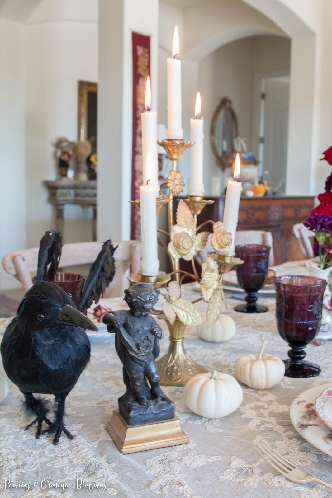 French gothic Halloween decor - non-creepy Halloween decoration ideas