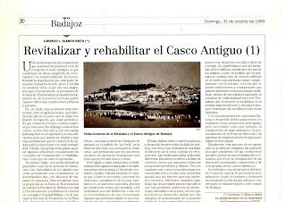 Revitalizar y rehabilitar  del Caco Antiguo de Badajoz