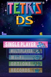 Captura de pantalla del Tetris DS de la Nintendo DS de 2006