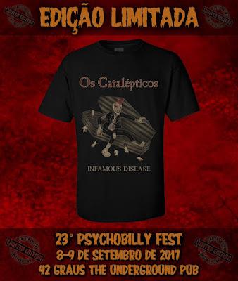 Os Catalépticos - Camiseta Especial da banda.