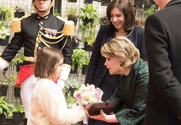 Grand Duke Henri, Grand Duchess Maria Teresa and Princess Alexandra visited Paris City Hall and met with Mayor of Paris Anne Hidalgo