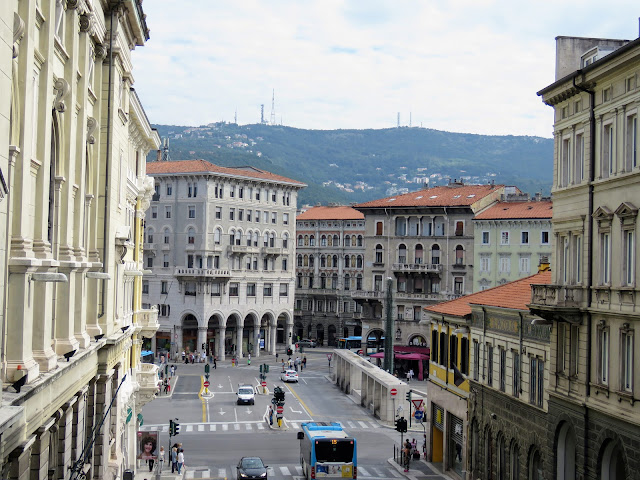 View of Trieste City from Scala dei Giganti