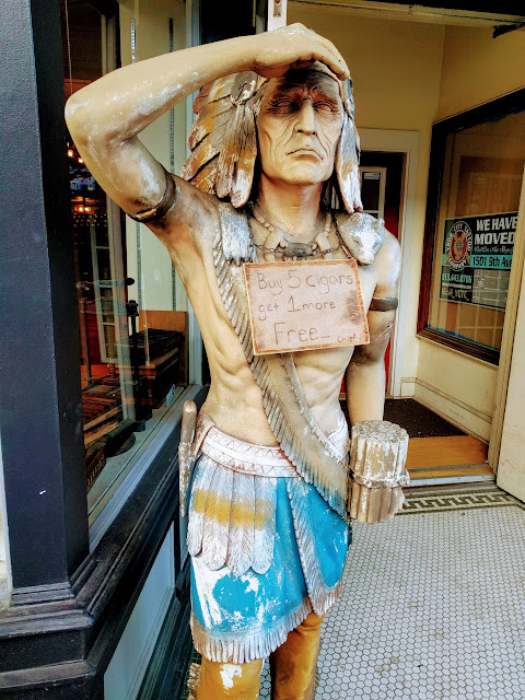 Cigar Store Indian in Ybor City, Tampa, Florida