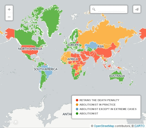 Mapped: The 58 countries that still have the death penalty