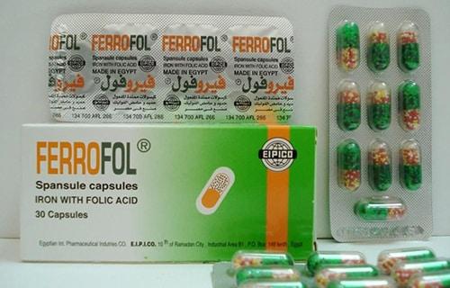 سعر كبسولات فيروفول ferrofol لعلاج الانيميا