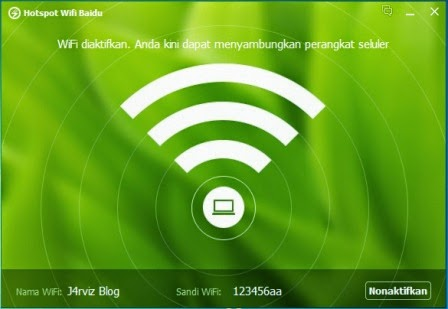 Mengubah Laptop Menjadi Wifi Hotspot Dengan Baidu PC Faster