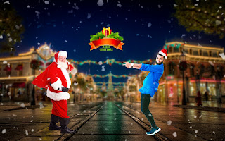 PicsArt Christmas Photo Editing| Merry Christmas PicsArt manipulation tutorial|Santa claus PicsArt manipulation Editing