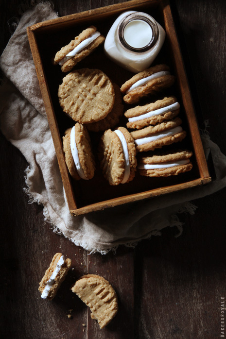 Peanut Butter Marshmallow Sandwich Cookies